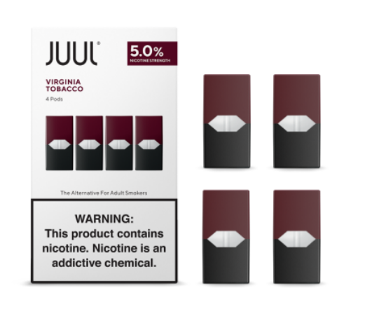 Vapes & Papes 5% / 4 Pk JUUL Virginia Tobacco