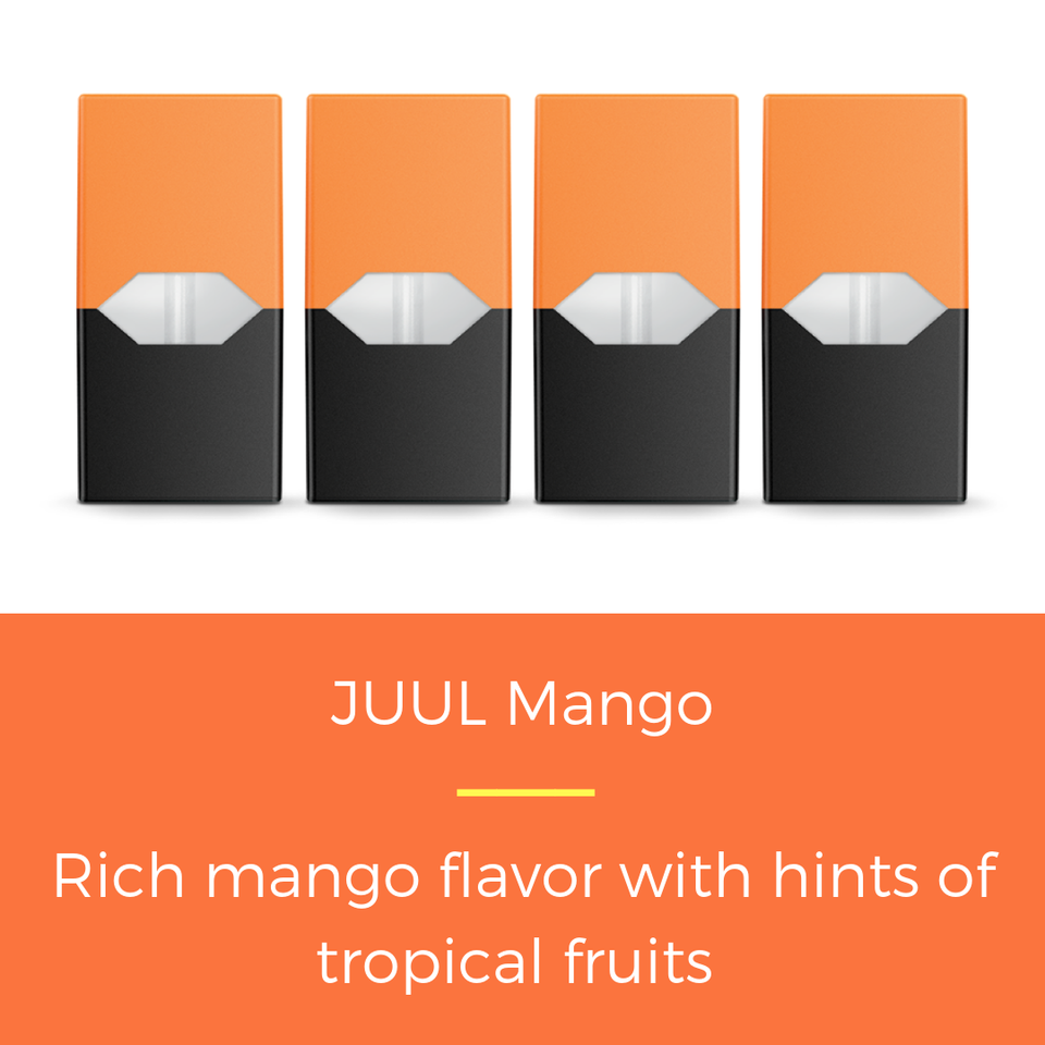 JUUL Mango Wholesale Special($37.99/Pk) (8 Packs)