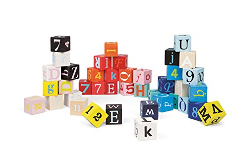 Kubix 40 Letter and Number Blocks