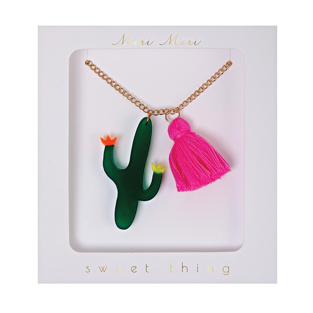 Cactus and Tassel Necklace