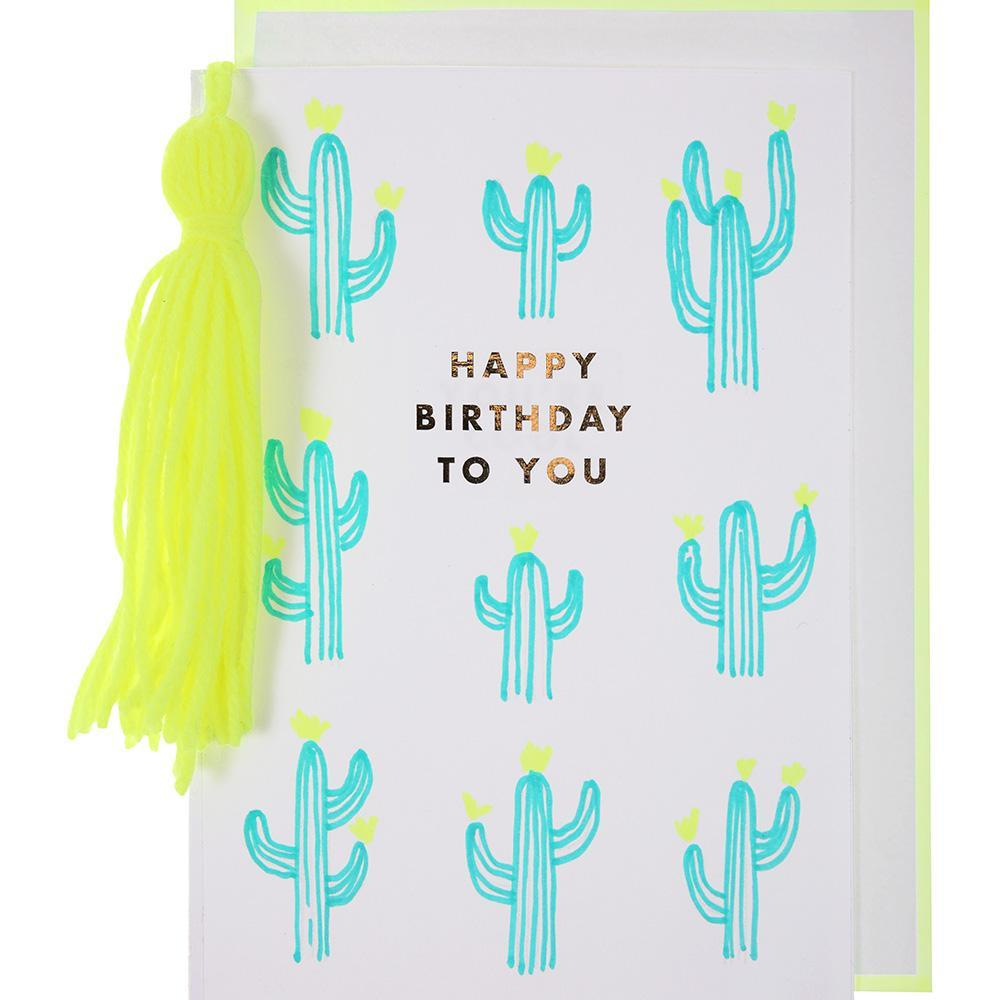 Cactus and Tassel Birthday Card