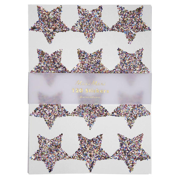 Rainbow Glitter Star Stickers