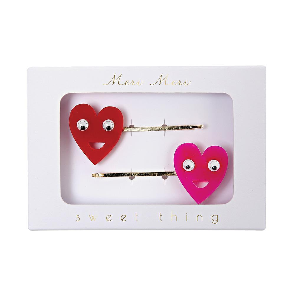 Heart Hair Slides