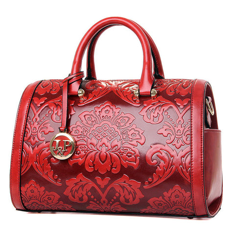 Brocade Embossed Handle Bag