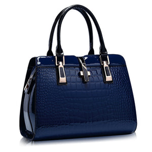 Crocodile Patent Leather Tote