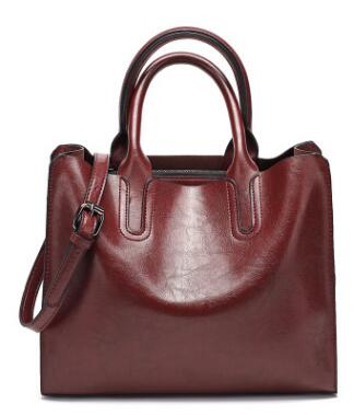 Open Top Genuine Leather Bag