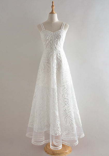Lace Voile Embroidered Dress