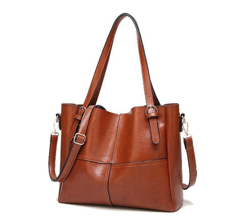 Large Tote with Buckle Detail
