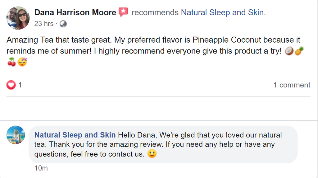 Natural Coconut Pineapple Tea review