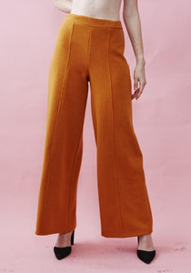 Orange Knit Melton Lounge Pant