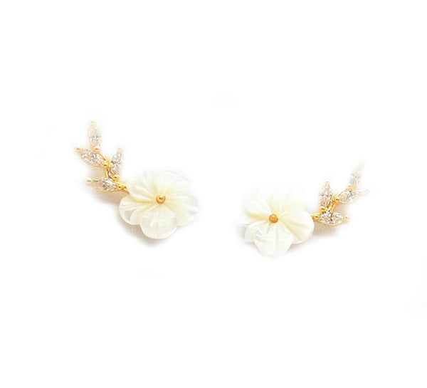Anemone Flower Collection - I Love You Earring
