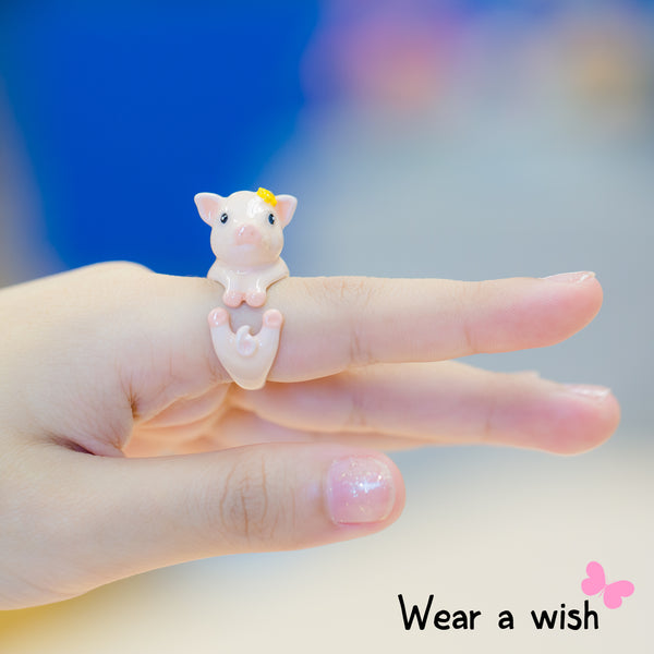 Pig Animal FreeSize Ring