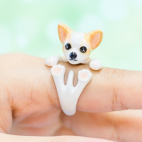 ChihuahuaDogRing (LightBrown&White, LightBrown, Black)