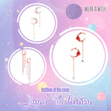image 0 image 1 image 2 Swarovski Crystal Luna Dangle Drop Earring (Godnness of the Moon)