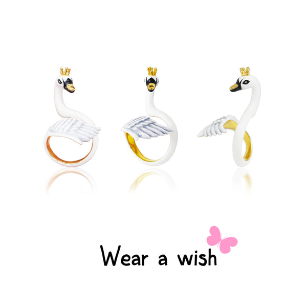 Swan Bird FreeSize Ring (Adjustable Ring)