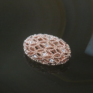 Rose Gold Plated Copper Zirconia Victorian Style Bracelet piece