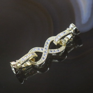 Gold Plated Copper Zirconia Infinity Knot