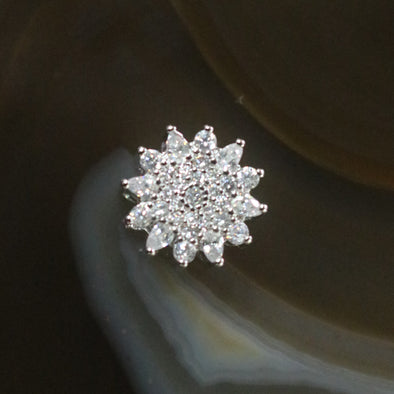 Sliver Plated Copper Zirconia Snowflake
