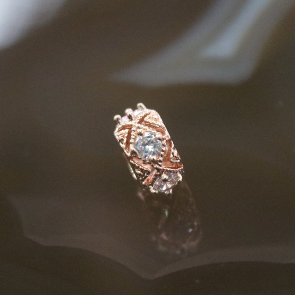 Rose Gold Plated Copper Crystal Charm