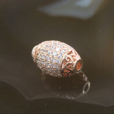 Rose Gold Plated Copper Crystal Grenade Charm