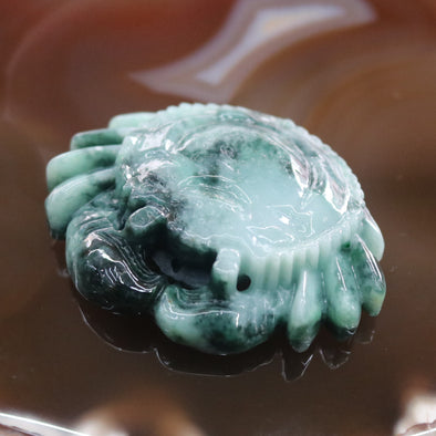 Type A Burmese Jade Jadeite Crab Display