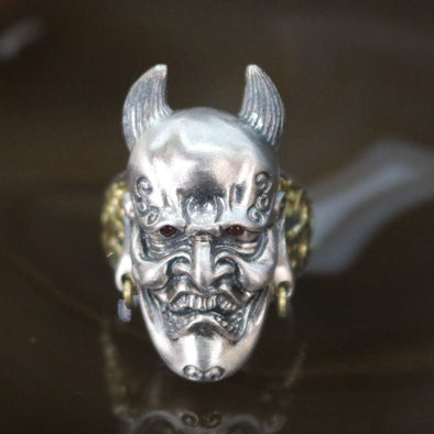 Limited Edition Customised 925 Sliver Ghost Face Ring - US 9