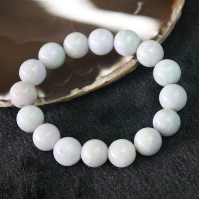 Type A Burmese Jade Jadeite Slight Lavender Beads Bracelet - 62.11g 13.0mm/bead 16 beads