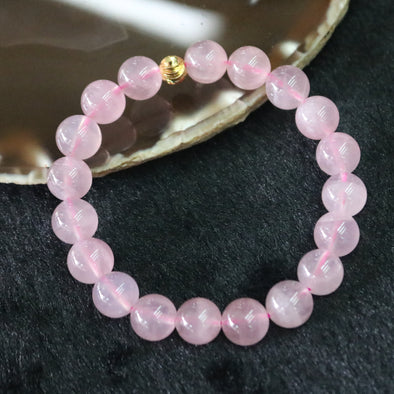Natural Rose Quartz Beads Bracelet - 29.89g 10.4mm/bead 19beads