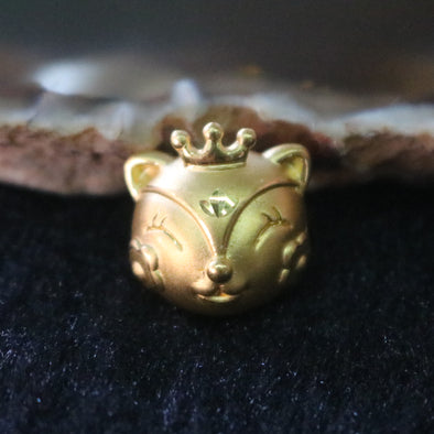 24K 999 Gold Feng Shui Fox Charm for Bracelet or Pendant