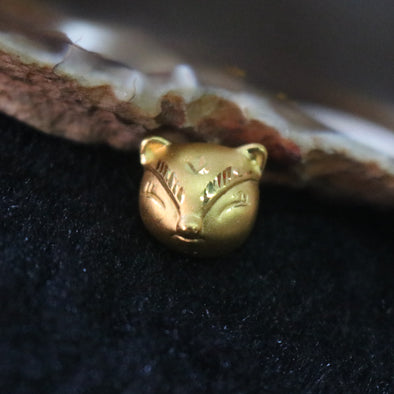 24K 999 Gold Feng Shui Fox Charm for Bracelet Pendant