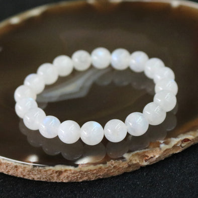 Blue Moonstone Beads Bracelet - 25.38g 9.4mm/bead 20 beads