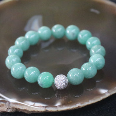 Type A Burmese Jadeite Beads Bracelet - 41.66g 11.7mm/bead 16 Beads