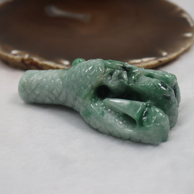 Jade Jadeite Pheonix Claw Display