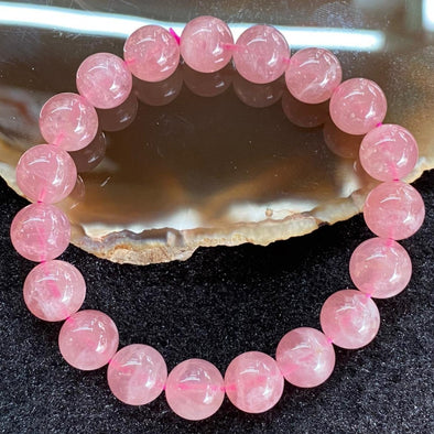 Natural Rose Quartz for romance luck - 27.57g 9.9mm/bead