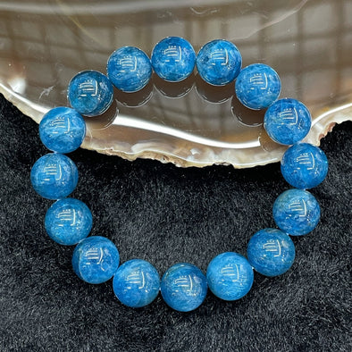 Natural Apatite Bracelet 16 beads - 52.45g 12.6mm/bead