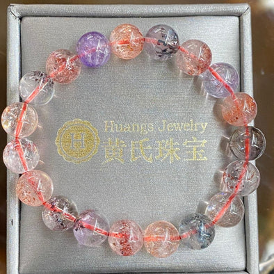 Natural Feng Shui Super 7 Crystal Bracelet - 27.84g 10.3mm/bead