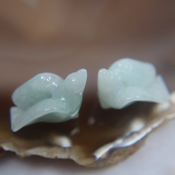 Pair of Doves Jade Jadeite