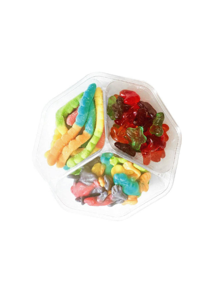 Candy Corner Gummy Animals Mix: Candy Trays