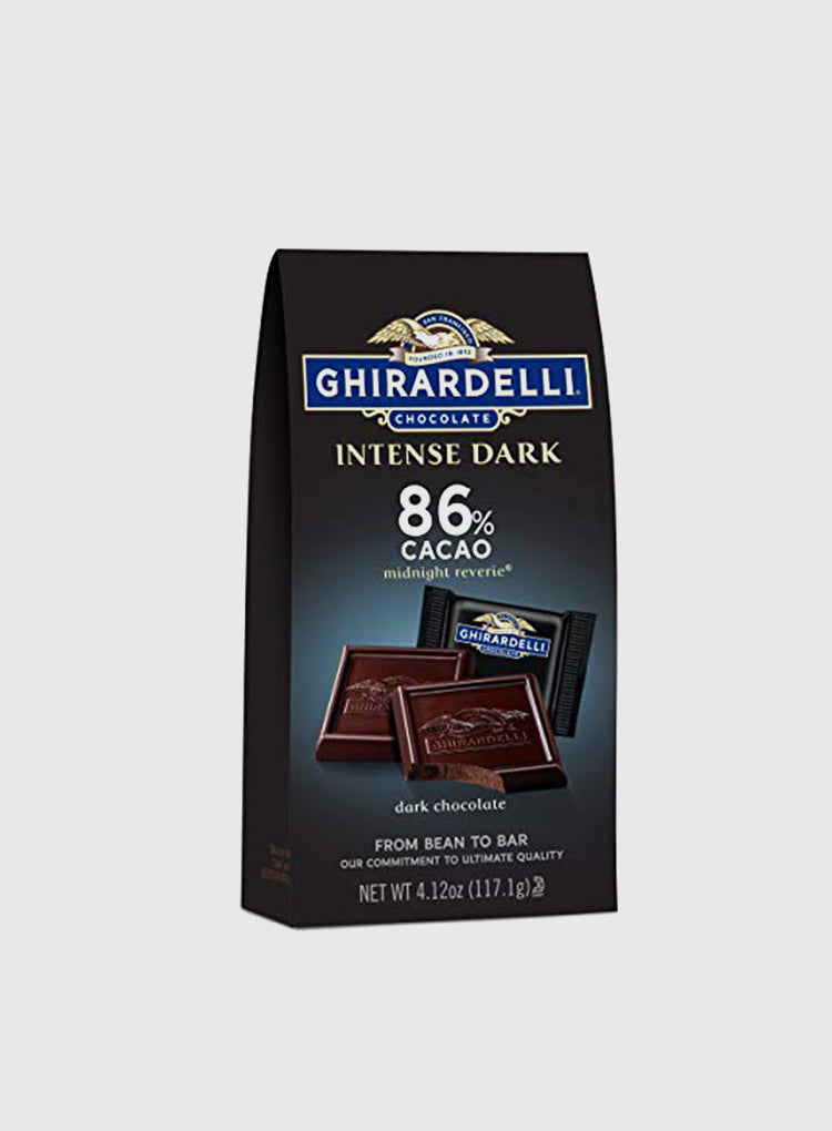 Candy Corner Ghirardelli 86% Cocoa Intense Dark Chocolate Midnight Reverie Squares