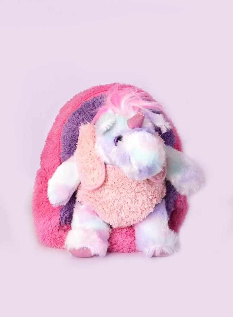 Kreative Kids Rainbow Unicorn Plush Backpack