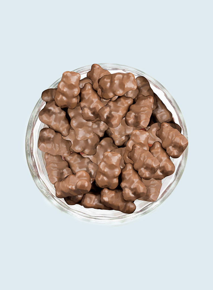 Candy Corner Milk Chocolate Covered Gummy Bears