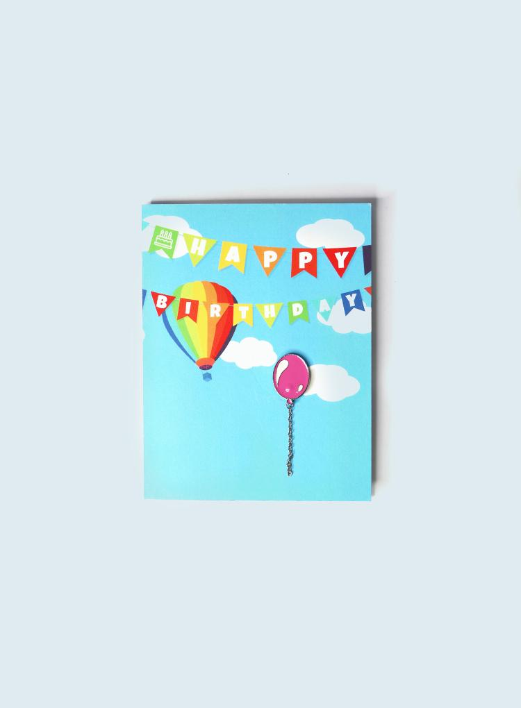 Pins and Paper Birthday Balloon Card