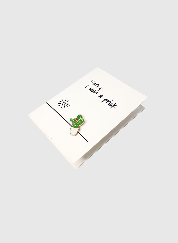 Pins and Paper I Was a Prick Card