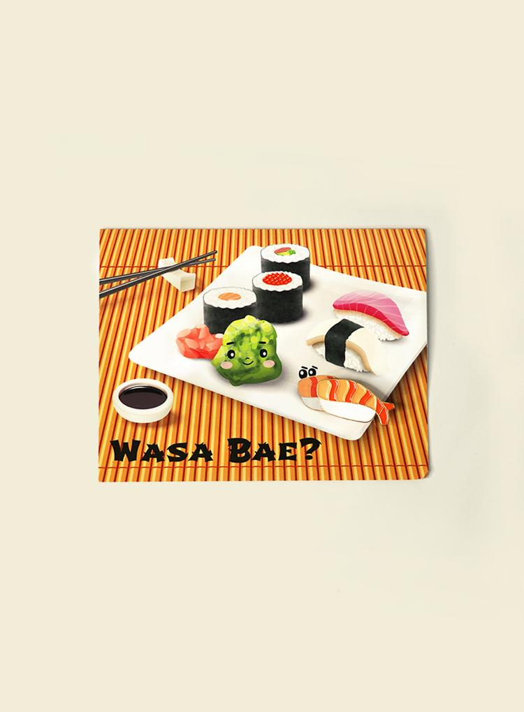 Pins and Paper Wasa Bae Card