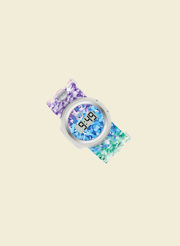 WATCHITUDE SASSY SEQUINS DIGITAL SLAP WATCH