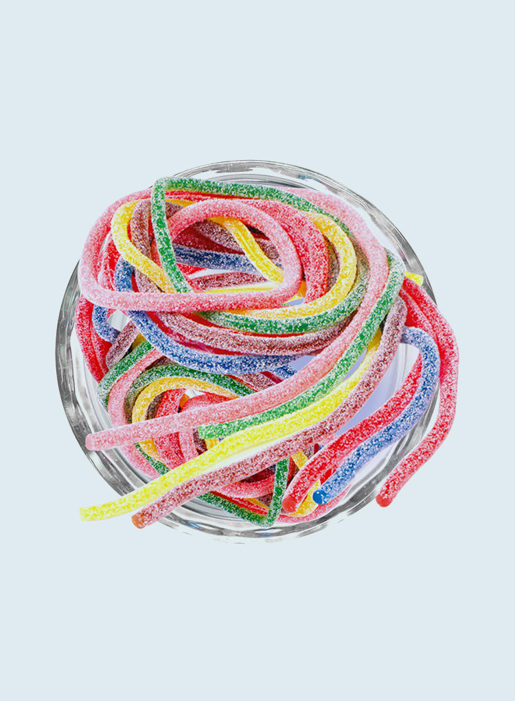 Candy Corner Sour Gummy Strings