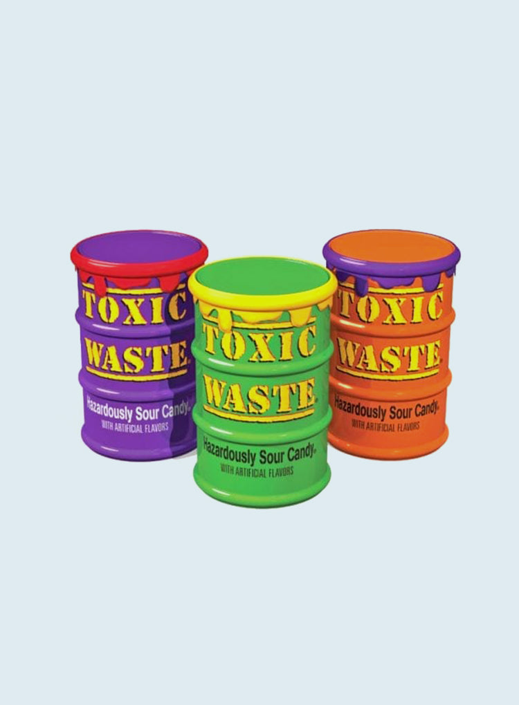 Candy Corner Toxic Waste Sour Candy Color Drums