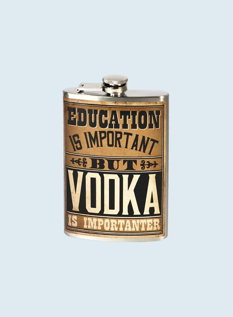 Trixie & Milo Education is Importanter Flask
