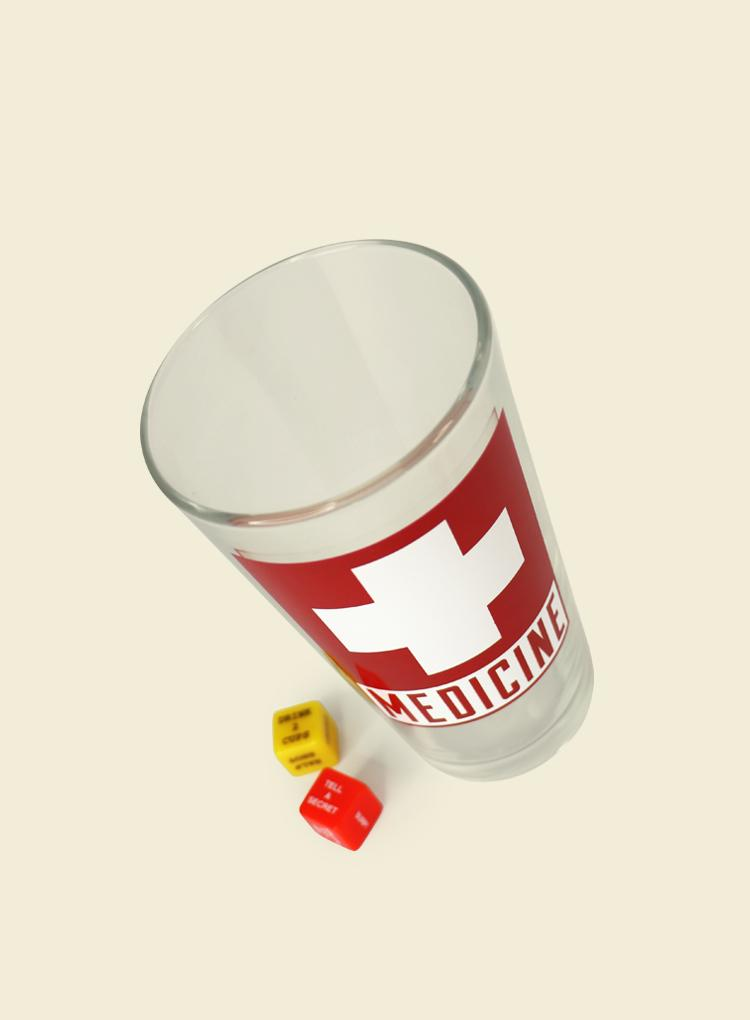 Trixie & Milo Medicine Pint Glass