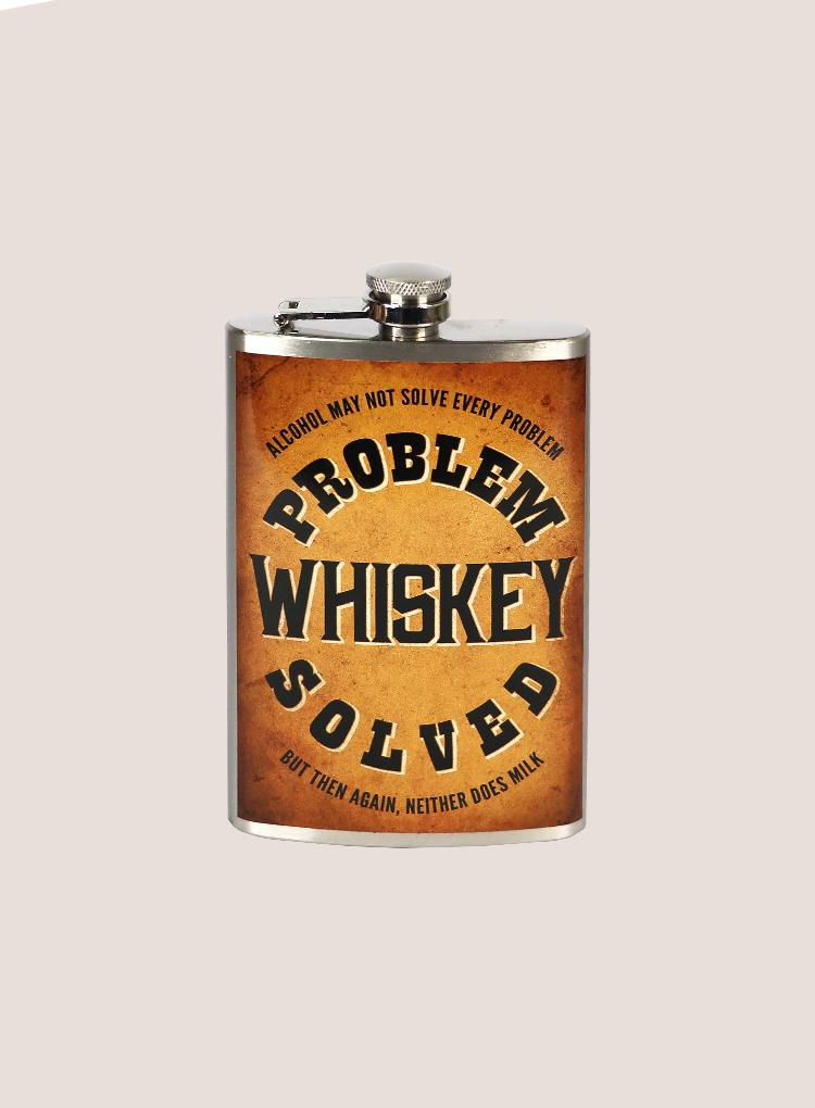 Trixie & Milo Problem, Whiskey, Solved Flask